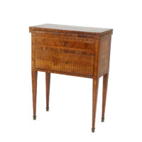 Garden Court Antiques, San Francisco -Small Scale Parquetry Flip Top Games Table; French Circa 1820.