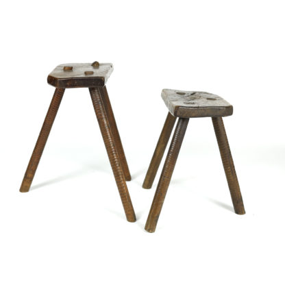 Garden Court Antiques, San Francisco - Set of Two Rustic Cutler's Stools, English, Circa 1850