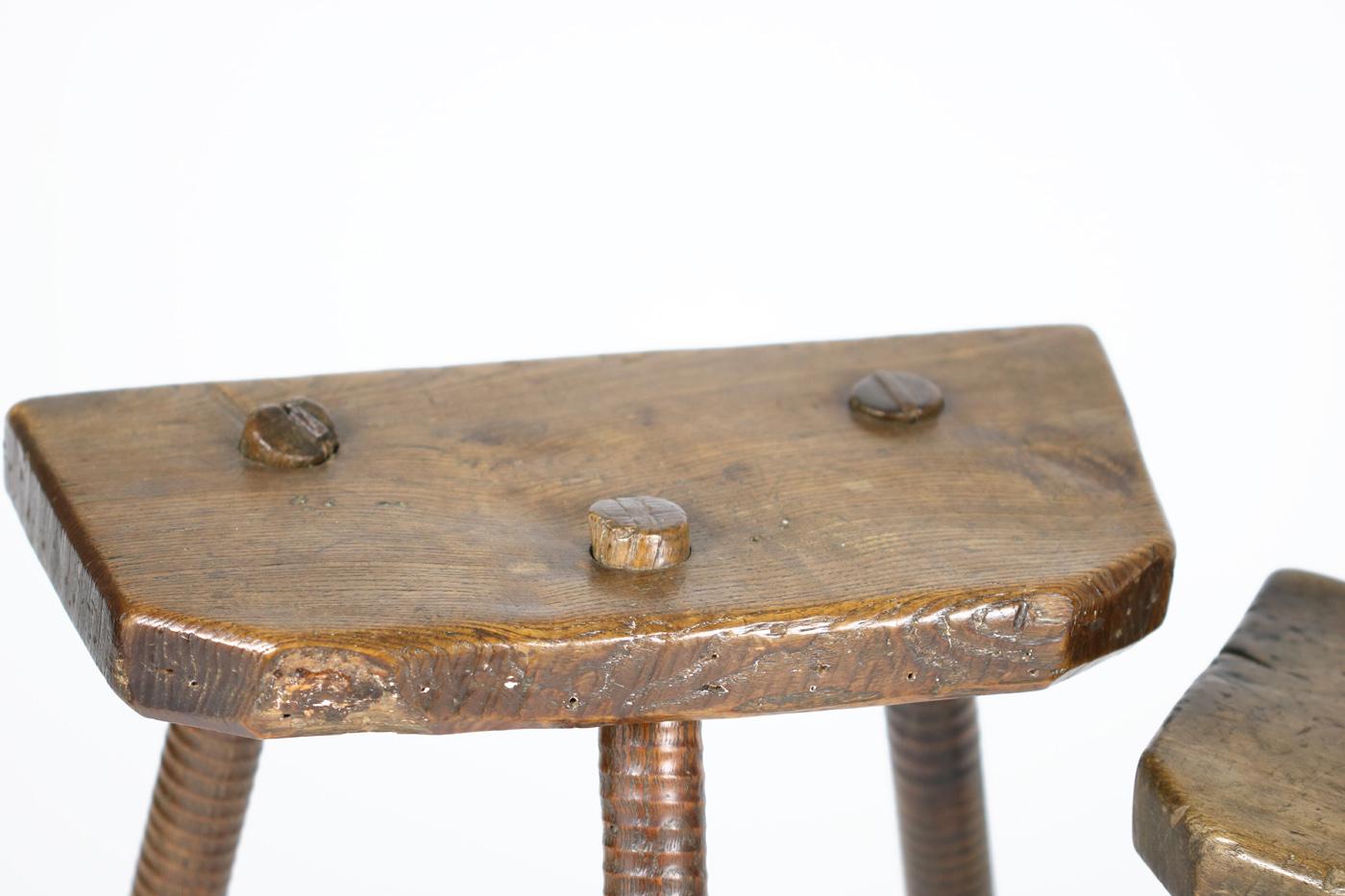 Companion Pair 19th Century English Three Legged Cutler S