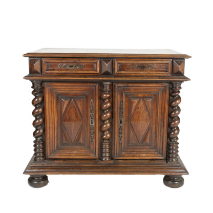 Garden Court Antiques, San Francisco -Baroque Period Carved Walnut Buffet; French, Circa 1680.