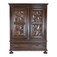 Garden Court Antiques, San Francisco - A Massive Louis XIII Period Carved Walnut Armoire; French, Circa 1660.