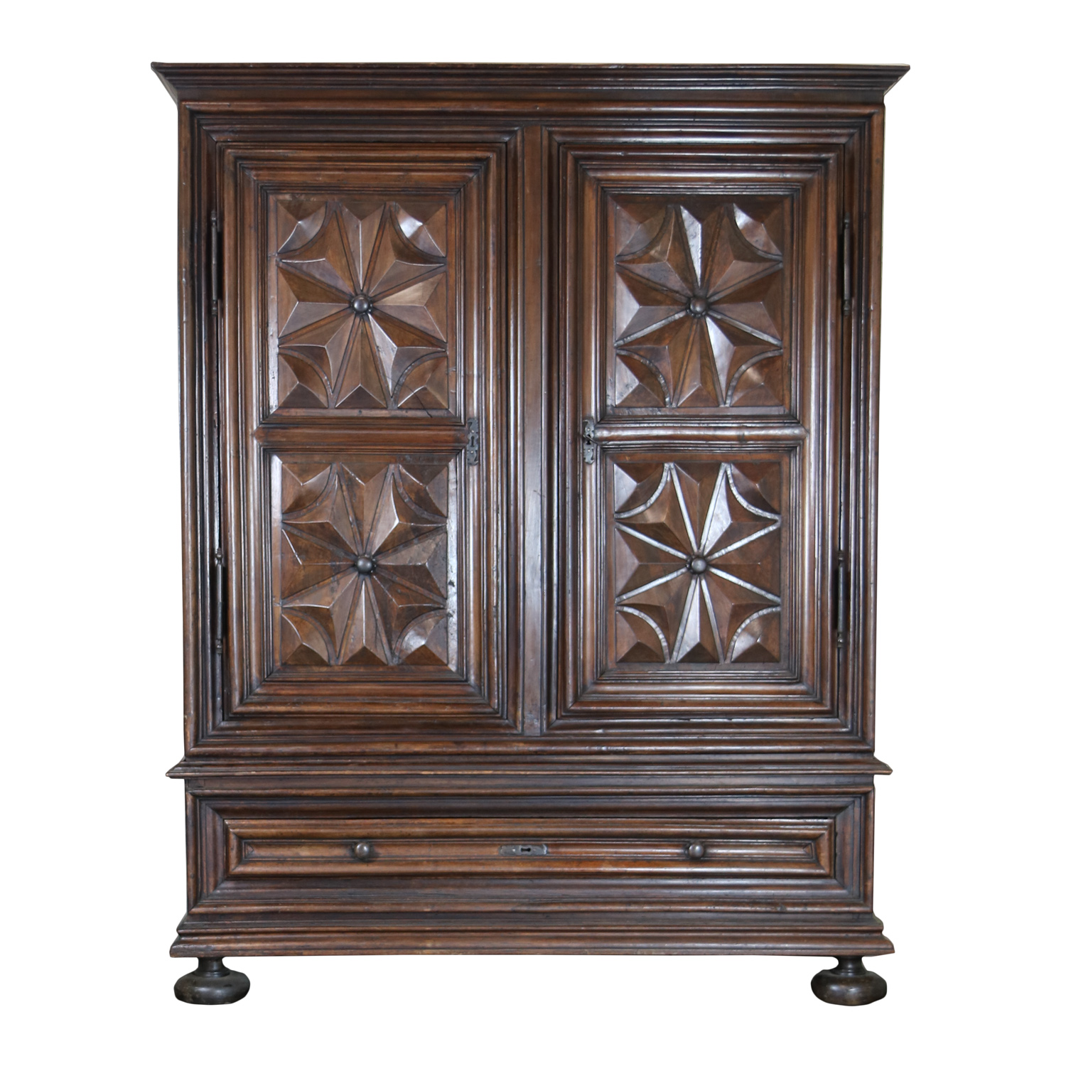 louis xiii period carved walnut armoire ph 415 355 1690. Black Bedroom Furniture Sets. Home Design Ideas