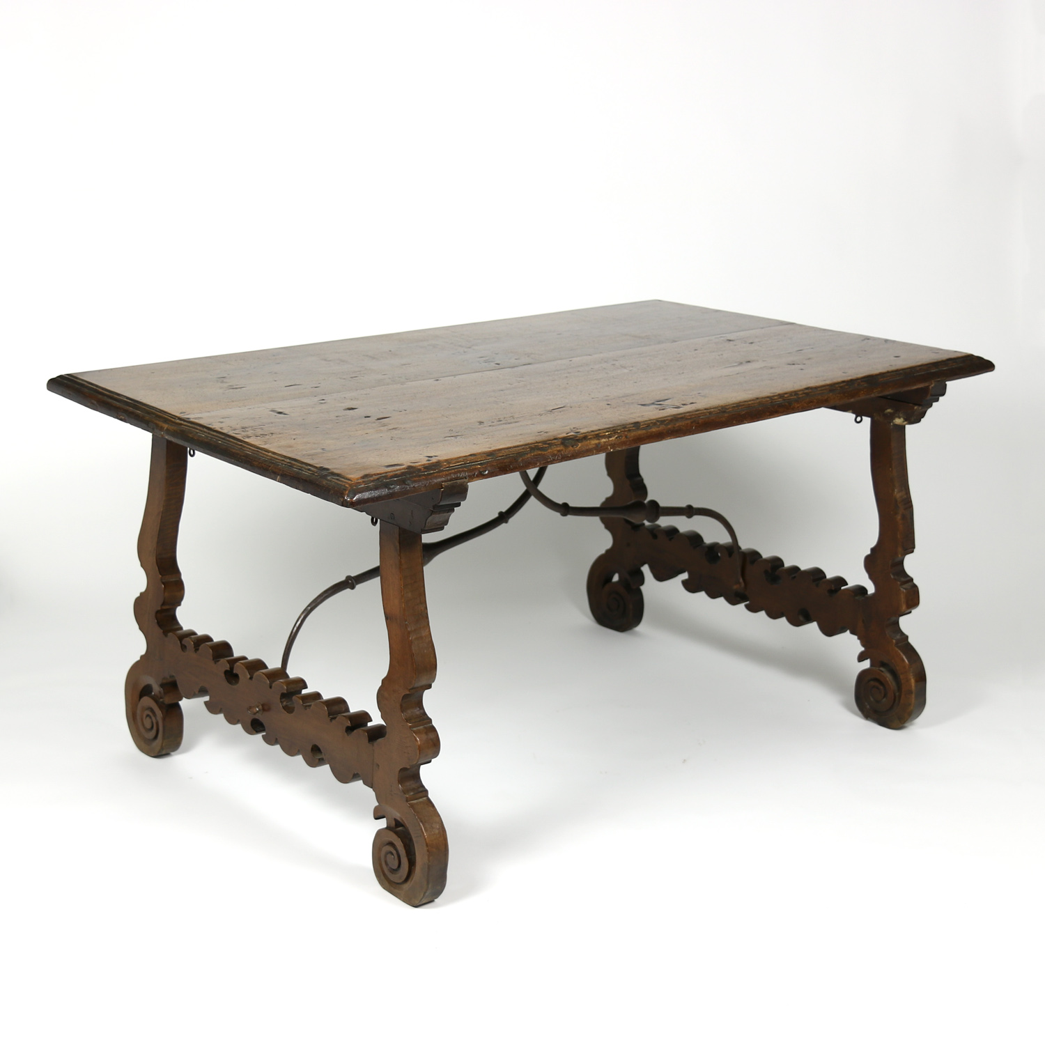 Spanish Walnut Trestle Table Circa 1880 Ph 415 355 1690