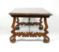 Garden Court Antiques, San Francisco - Spanish Walnut Trestle Table, Circa 1880.