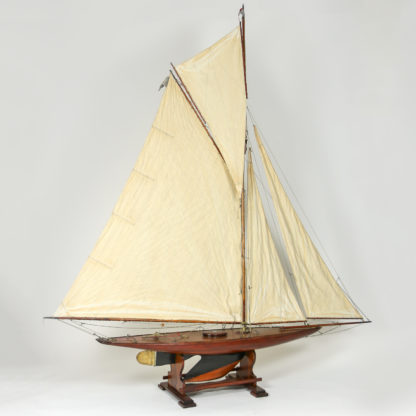 Garden Court Antiques, San Francisco -Very Large Scale English Pond Yacht, circa 1920, on Later Stand