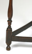 Garden Court Antiques, San Francisco -Oak Cricket table with turned legs, English circa 1800