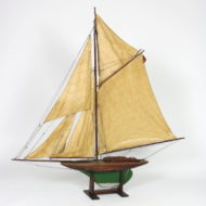 Garden Court Antiques, San Francisco -Handsome English Pond Yacht Circa 1920 On Later Stand