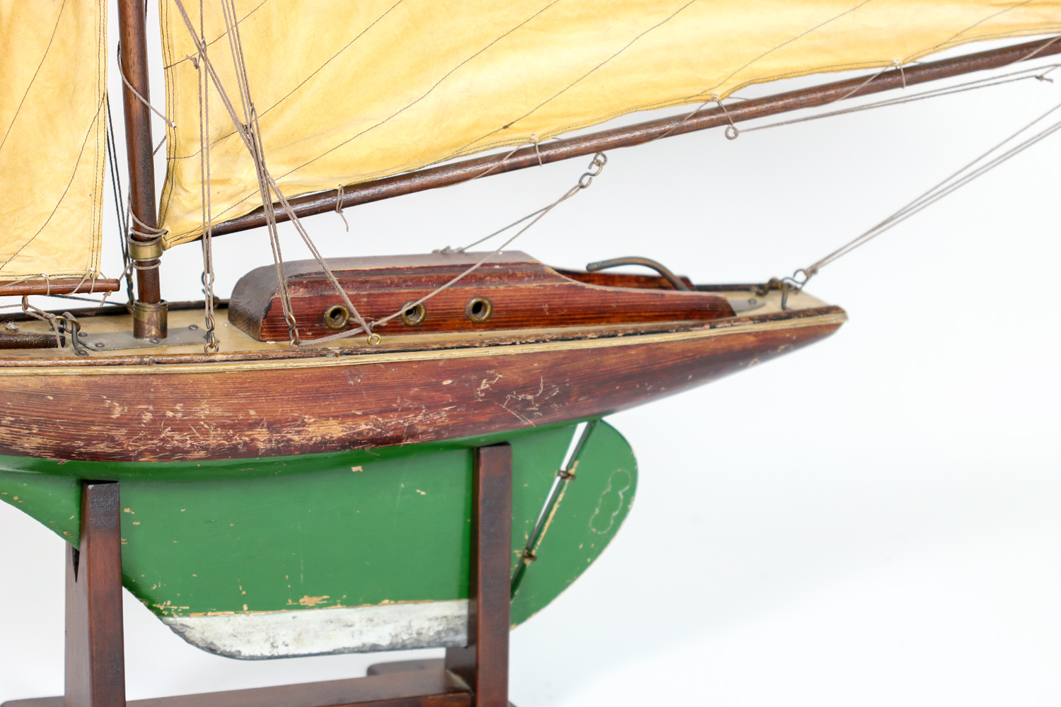 Vintage english pond yacht on stand 1920 39 s 415 355 1690 for Pond accessories for sale
