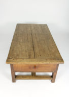 Garden Court Antiques, San Francisco -A Rustic English Fruitwood Low Table with a Single Large Drawer, Circa 1860
