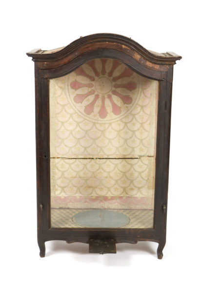 Garden Court Antiques, San Francisco -Large Carved Oak and Glass Reliquary, English Circa 1800