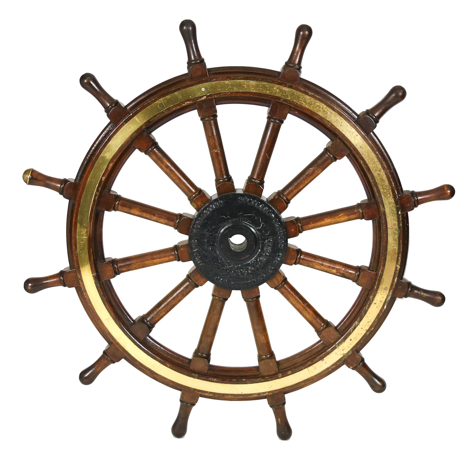 Large Vintage Ship S Wheel Nautical Memorablia 415 355 1690