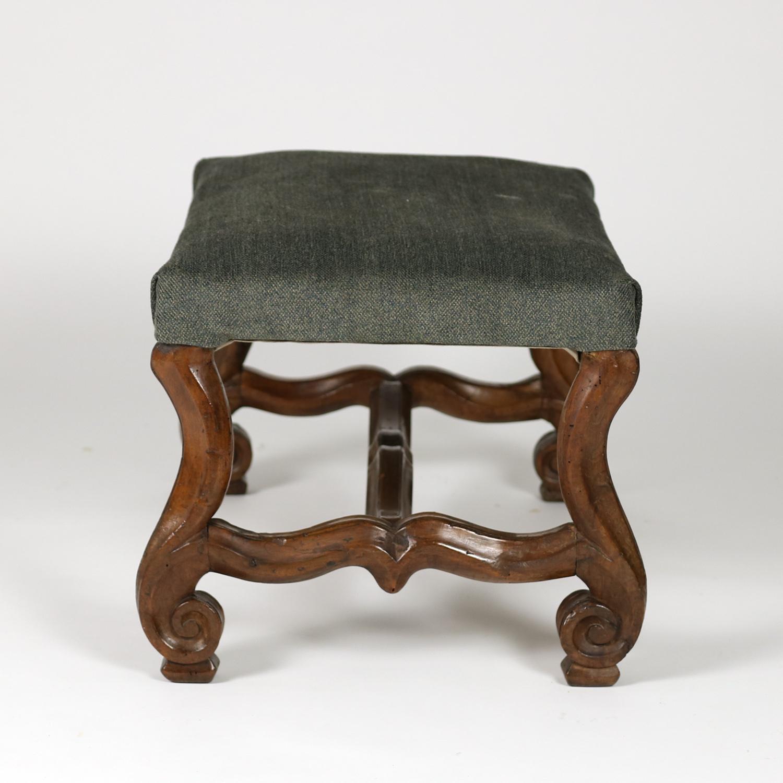 Period Louis XIV Carved Os de Mouton Walnut Bench 415 355 1690