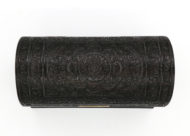 Garden Court Antiques, San Francisco - Elaborately Carved Anglo Indian Solid Ebony Stationery Box with Domed Top, Ceylon, Circa 1850.