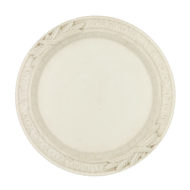 Simple & Elegant, Round White Ceramic Bread Plate with The Lord's Prayer, 19th Century