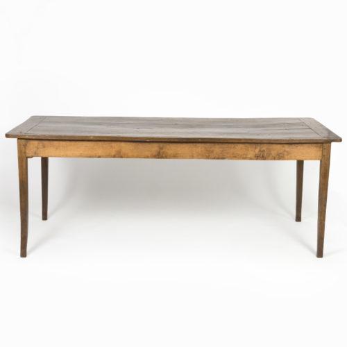 Garden Court Antiques, San Francisco - Very Rare Elm Farm Table With Incredible Patina & Single Drawer, English, Circa 1840