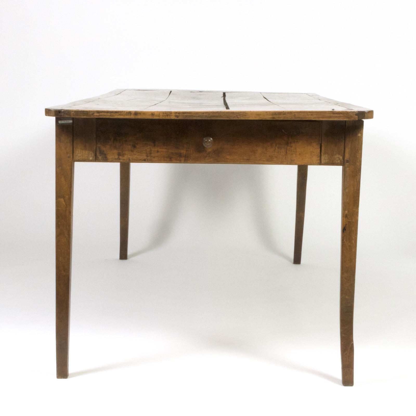 Garden Court Antiques, San Francisco   Very Rare Elm Farm Table With  Incredible Patina U0026
