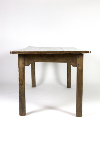 Garden Court Antiques, San Francisco -Large English Fruitwood Farm Table With Single Side Drawer, Circa 1860
