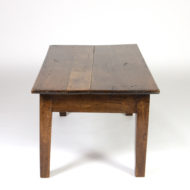 Garden Court Antiques, San Francisco - French Walnut Low Table; A Modified School House Table, Circa 1880.