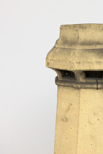 Garden Court Antiques, San Francisco -Pair of octagonal terra cotta chimney pots, English circa 1850
