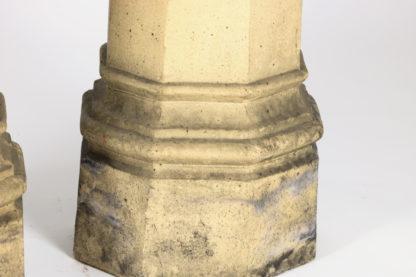 Garden Court Antiques, San Francisco -Pair of octagonal terra cotta chimney pots, English circa 1850