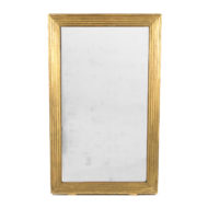 French Giltwood Fluted Mirror, Circa 1840