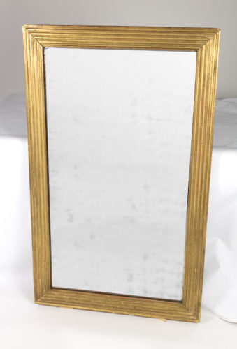 Garden Court Antiques, San Francisco -French Giltwood Fluted Mirror, Circa 1840, Mid 19th Century