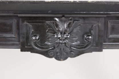 Grotesque Mask Decoration , The Green Man on a Baroque Inspired Ebonized French Bureau Plat Circa 1880 Garden Court Antiques, San Francisco