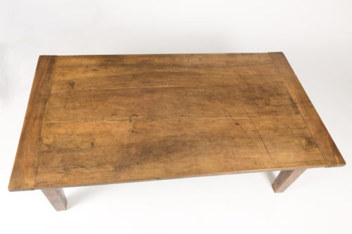 Antique French Walnut Low Table With Tapered Legs, Circa 1860 at Garden Court Antiques, San Francisco