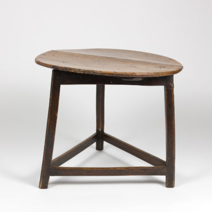 Tradtional Cricket Table With Triangular Stretchers, English Circa 1840 Garden Court Antiques, San Francisco