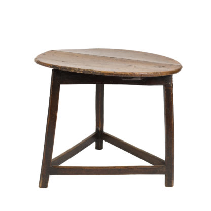 Low Chestnut Cricket Table With Triangular Stretchers, English Circa 1840 Garden Court Antiques, San Francisco