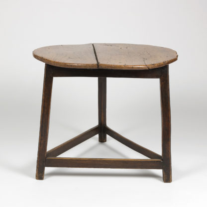 Cricket Table With Triangular Stretchers, English Circa 1840 Garden Court Antiques, San Francisco
