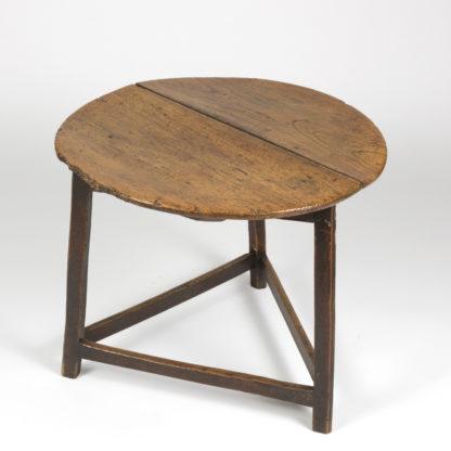 antique Cricket Table With Triangular Stretchers, English Circa 1840 Garden Court Antiques, San Francisco