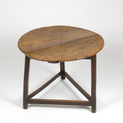 vintage Cricket Table With Triangular Stretchers, English Circa 1840 Garden Court Antiques, San Francisco