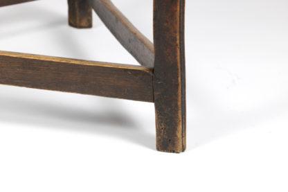 Triangular stretcher base of a Cricket Table With Triangular Stretchers, English Circa 1840 Garden Court Antiques, San Francisco
