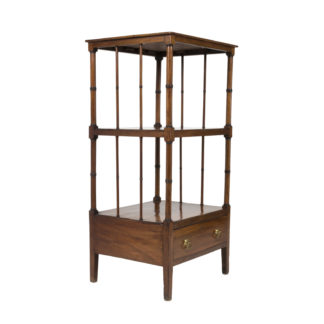 Handsome Regency Period Mahogany Etagere, English, Circa 1830. Garden Court Antiques, San Francisco