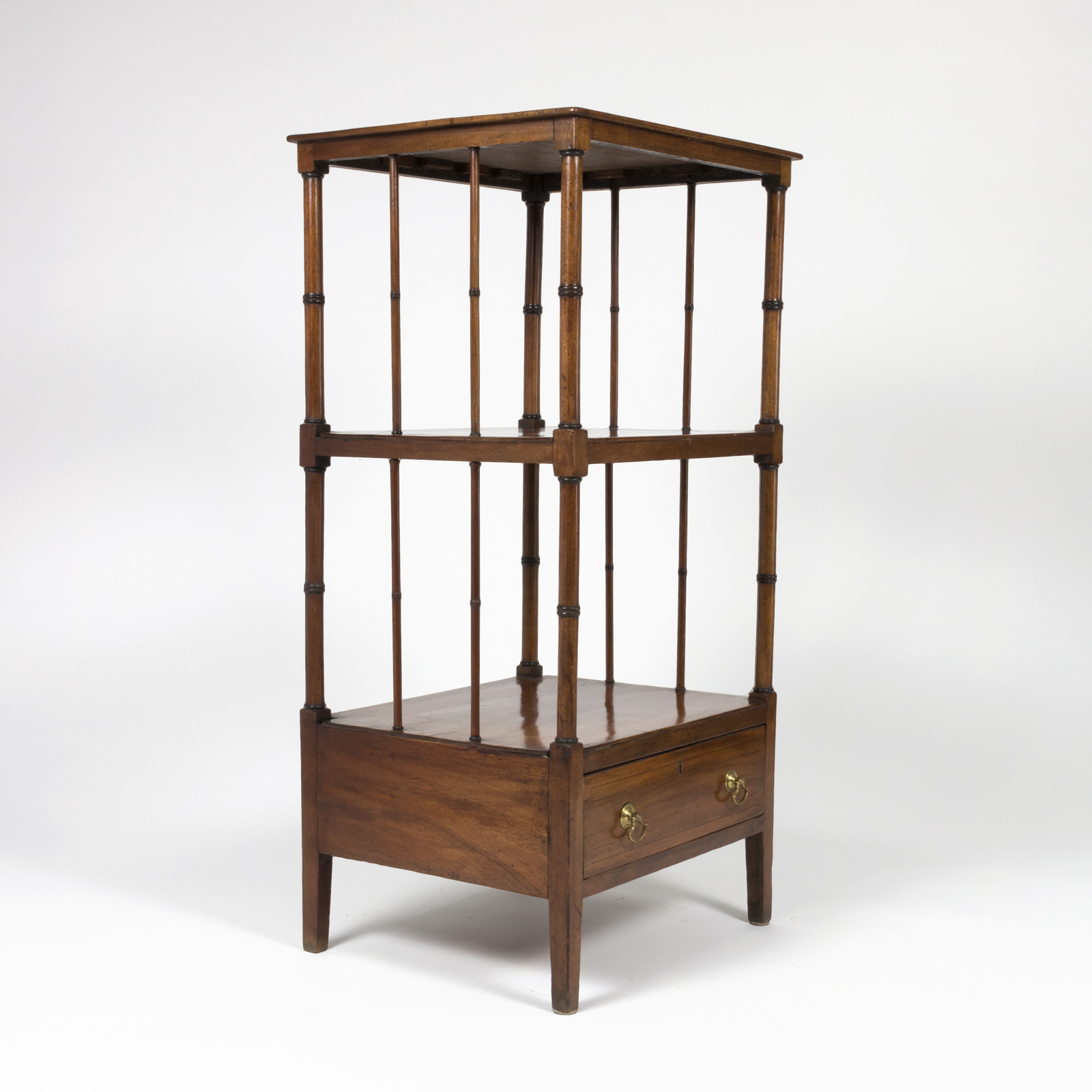 regency period mahogany etagere shelving english 415. Black Bedroom Furniture Sets. Home Design Ideas