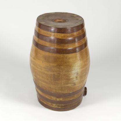 Treacle Salt Glazed Spirit Barrel, English Circa 1870 Doulton & Co. Ltd. Lambeth, London. Garden Court Antiques, San Francisco