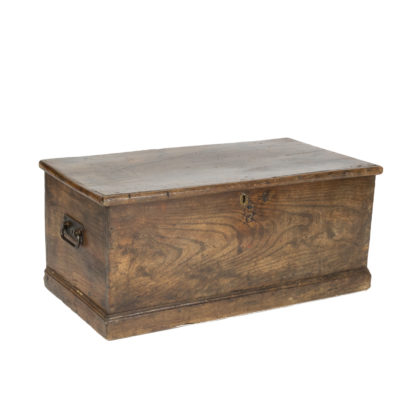 Vintage English Trunk With Overscale Iron Hinges, English Circa 1860 Garden Court Antiques, San Francisco