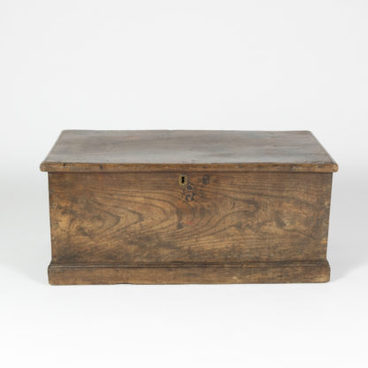English Trunk With Large Iron Hinges, English Circa 1860 Garden Court Antiques, San Francisco