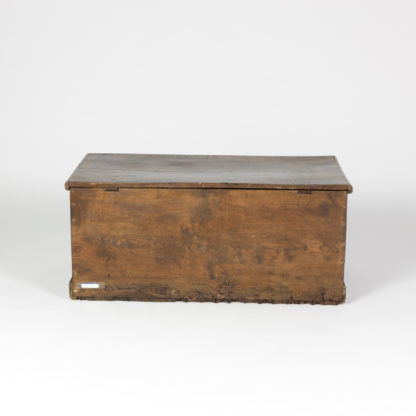 Back of an English Trunk With Overscale Iron Hinges, English Circa 1860 Garden Court Antiques, San Francisco