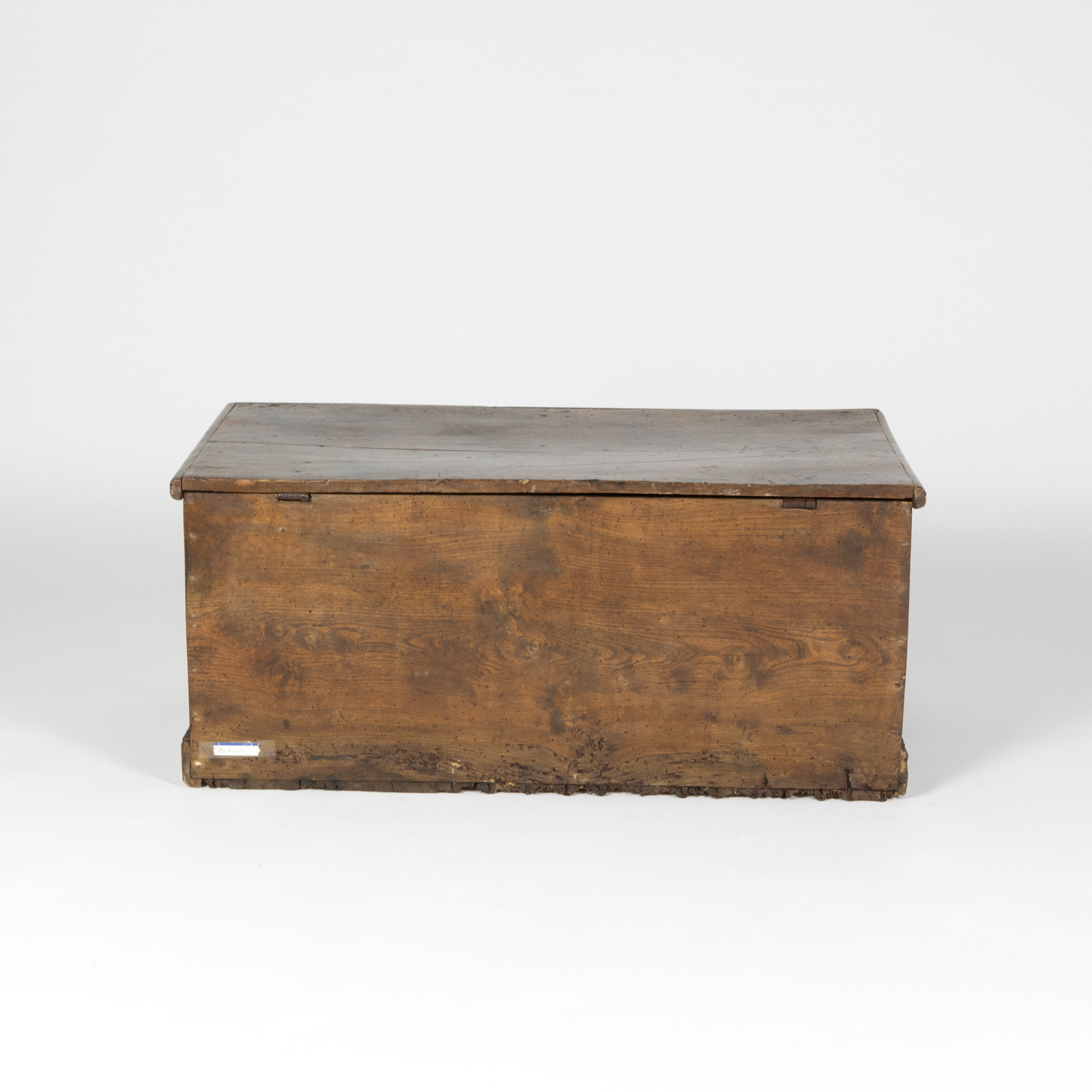 back of an english trunk with overscale iron hinges english circa 1860 garden court antiques - Storage Chest Trunk