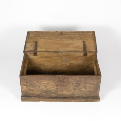 San Francisco Antiques: An opened English Trunk With Overscale Iron Hinges, English Circa 1860 Garden Court Antiques,