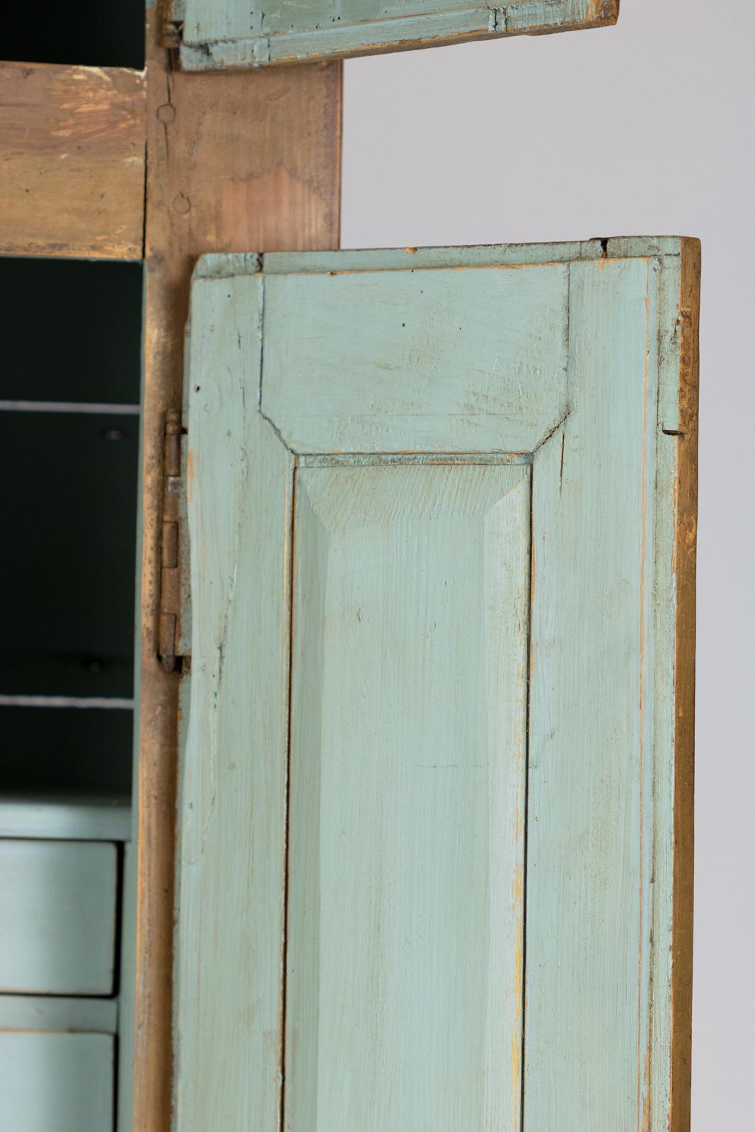 Tall Painted Pine Housekeeper\'s Cupboard, Swedish Circa 1800 ...