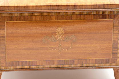 French Directoire Period Satinwood Box with Original Portrait on the Inside Lid. Circa 1790 Garden Court Antiques, San Francisco