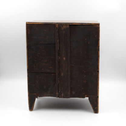 Antique Polished Pine Miniature Bow Front Chest Of Drawers, English, Circa 1850. Garden Court Antiques, San Francisco