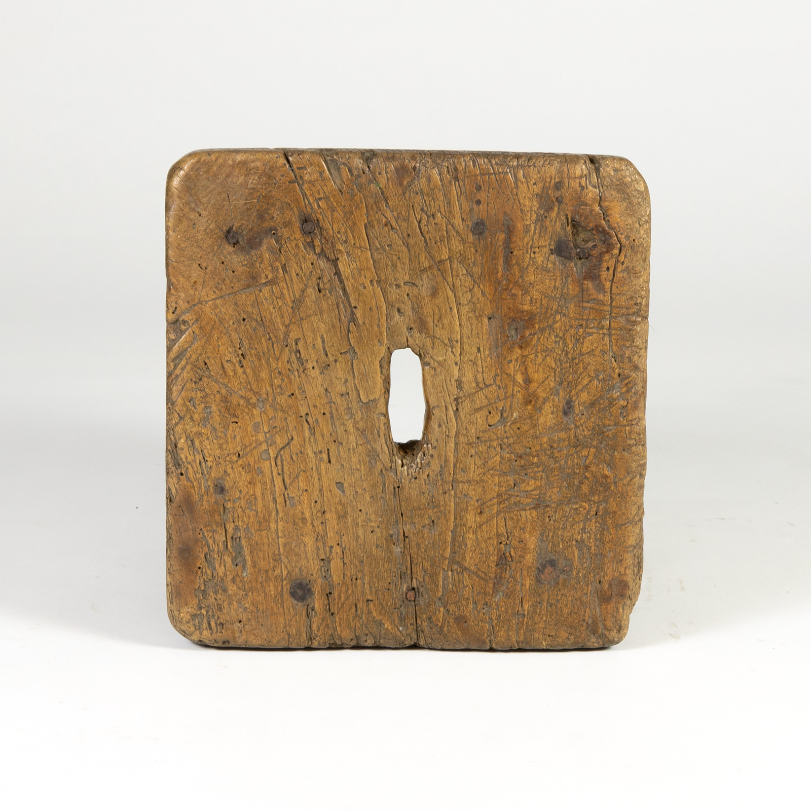 Very Rustic Vintage Square English Box Stool circa 1800 (415) 355-1690