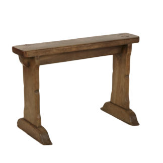 Narrow Fruitwood Bench, English, Circa 1880. Garden Court Antiques, San Francisco