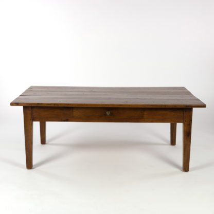 French Walnut Low Table With Center Drawer, Circa 1870 Garden Court Antiques, San Francisco