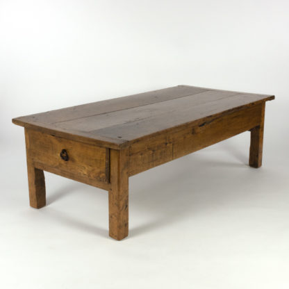 French Fruitwood Farm Table Circa 1870 With Large Drawers On Both EndsGarden Court Antiques, San Francisco