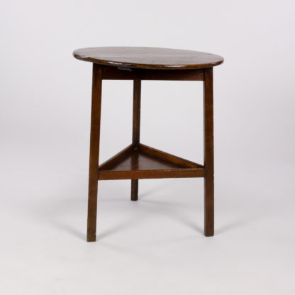 Small Scale Painted Cricket Table With Triangular Lower Shelf English, Circa 1850. Garden Court Antiques, San Francisco